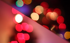 Bokeh on a diagonal (kevin dooley) Tags: christmas xmas 2011 canon 40d color colorful light bokeh piano christmaslight xmaslight christmaslightbokeh xmaslightbokeh diagonal comp composition