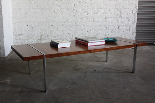 Captivating Sleek Lane Walnut U0026 Flat Bar Chrome Mid Century Modern Coffee Table  (U.S.A., 1960u0027s