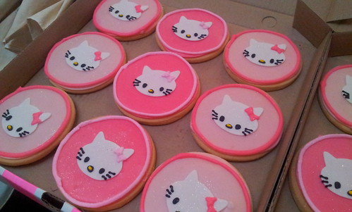 Decorated Round Cookies Round Shortbread Cookies