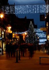 Christmas Shopping (carpon10) Tags: christmas people night shopping christmastree christmaslights