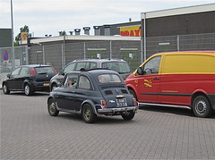 1970 FIAT 500L while driving (ClassicsOnTheStreet) Tags: blue classic amsterdam blauw fiat voiture 70s oldtimer streetphoto spotted 1970 500 blau 1970s seventies import streetview 2012 aircooled imported whiledriving onderweg pkw klassieker 500l gespot azurro luchtgekoeld straatfoto 2cylinder carspot draaierweg 2cilinder luchtkoeling ingevoerd am9358