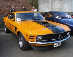 FORD Mustang Mach 1 351 (1970) (xavnco2) Tags: france classic cars ford yellow jaune automobile antique american 1970 autos mustang common classiccars arras 351 pasdecalais mach1 ravera bourseexpo