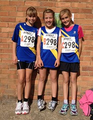 Under 13s Athletes at the Northern Cross Country Relays at Graves Park
