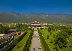 Chongsheng Temple, Dali, Yunnan Province, China (Eric Lafforgue) Tags: china travel vacation sky people color colour history horizontal mystery architecture temple person photography pagoda ancient asia day outdoor religion buddhism tourist copyspace ornate yunnan dali majestic groupofpeople thepast buildingfront traditionalculture eastasia placeofworship chineseculture realpeople colorimage chineselanguage buildingexterior colorpicture placeofinterest yunnanprovince highangleview traveldestination colourimage builtstructure chongshengtemple traditionallychinese groupofpersons a0007207