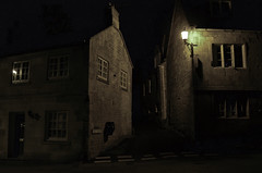 Village Nights (Sven Loach) Tags: uk houses windows light england lamp stone night rural buildings dark nikon quiet village britain path empty atmosphere cotswolds gloucestershire lonely blockley d5100 bellbank
