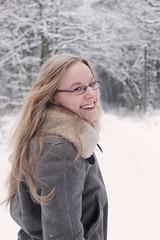 Steffi (Viktoria M.) Tags: winter portrait snow forest hair glasses blind