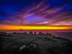 Amazing sunrise at 3700 meters.