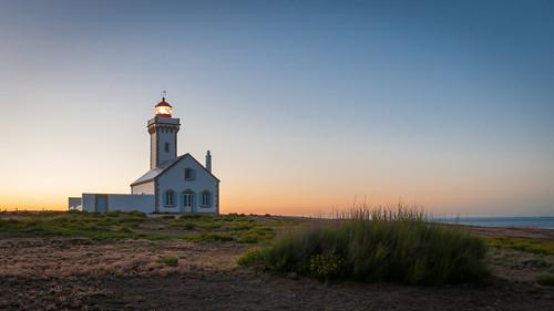 Crépuscule au phare des Poulains à Belle-Ile en Mer #2