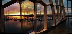 Sunset from the Harpa......... (apcmitch) Tags: coast sailing extreme nightscene enlight iphonephotos eastgreenland2016