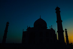 Marble, I perceive, covers a multitude of sins! (yugantarora) Tags: sky city sunset travel blue tourism architecture cityscape building beautiful silhouette nikon monument love photo india moment peace photography marble agra taj uttar pradesh mahal tajmahal incredibleindia whitemarble lovesymbol yugclicks flickr indiainmylens indiaimages indian indiapictures gradient colorful colorfulindia loveflickr art architercture cityart