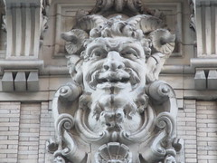 Satyr Gargoyles - The Ansonia Apartment Building 3836 (Brechtbug) Tags: satyr gargoyles the ansonia apartment building now condo upper west side new york city 2109 broadway between 73rd 74th streets built 1899 opened 1904 beaux arts architectural style mansard roof architect paul e m duboy featured 1992 film single white female bridget fonda jennifer jason leigh home pogo cartoonist disney animator walt kelly mobster arnold rothstein athletes jack dempsey babe ruth 8222016 nyc 2016