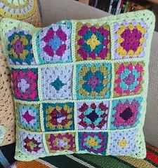 vera cushion (elletee42) Tags: crochet granny