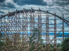 Wildfire, Stall (David Morton) Tags: stergtlandsln sweden kolmarden wildfire rockymountainconstruction rmc rollercoaster coaster wooden tz60 panasonictz60 hdr photomatix 1xp kolmrden