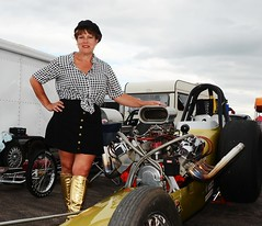 Ruth_7105 (Fast an' Bulbous) Tags: girl woman mature milf hot sexy chick babe drag dragster race car vehicle automobile fast speed power santa pod skirt boots people outdoor nikon motorsport d7100 gimp