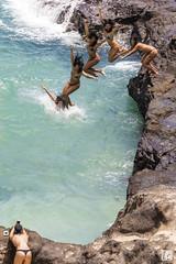 Diving Photographer, Oahu (lycheng99) Tags: diving water ocean waves oahu beach rocks sand woman people women swim bikinis photographer sequence hang ten hangten hawaii halonacove cove