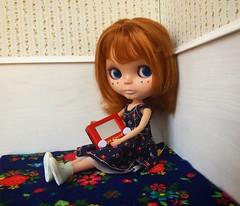 Conrad gets a new toy!! (TuSabesBlythe) Tags: kozy conrad doll blythe bl takara
