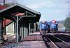 .CR 6845, CR 6506 w, Latrobe, PA. 5-07-1991 (jackdk) Tags: train railroad railway railroadstation standardcab latrobepa latrobestation cr conrail emd emdsd40 emdsd402 emdsd60 sd60 sd40 sd402