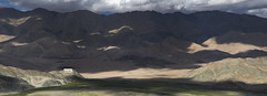 Hanle Monastery (Ravikanth K) Tags: 500px panorama ultrawide leh ladakh mountains nature outdoor jammuandkashmir clouds hanle mona monastery gompa light shadows green hills village