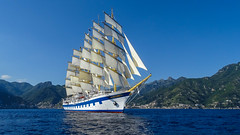 Royal Clipper (b.kuehweidner) Tags: outdoor sailing fnfmaster segelschiff segeln meer boot schiff starclippers royalclipper ocean sunny blue tallship sony dschx400v