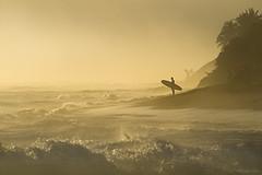 Morning Break (Bill Devlin) Tags: sunrise surfer surfing ocean beach encuentro dominican republic cabarete water gold golden