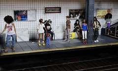 Plasticwood Metro Subway - Everyone awaits for the train to arrive (Real Dolls of Plastic Wood) Tags: train subway 16 scale barbie ken action figure homme fashion royalty dolls diorama scene urban custom