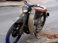 Honda  CM90 (Lawrence Peregrine-Trousers) Tags: honda super cub cm90 90 1966 elephant grey bike motorcycle step through thru ffffffffff