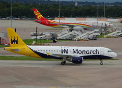 G-ZBAP Airbus A320 of Monarch Airlines (SteveDHall) Tags: aircraft airport aviation airfield aerodrome aeroplane airplane airliner airliners ringway 2016 manchester manchesterairport airbus a320 airbusa320 gzbap monarchairlines mon zb monarch