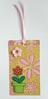 GT6 - Handmade gift tag (tengds) Tags: gifttag handmade yellow green prink flowers flowerpot woodchip felt rhinestone ribbon papercraft tengds tag