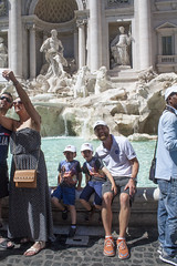 Theo, Julian, Graham at Trevi Fountain (David_and_Marilyn_King) Tags: rome ancient walk 2016 trevifountain fountain monument water family group