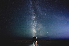 Bonneville Salt Flats (kendall.plant) Tags: milky way stars astrophotography space galaxy sony a7 night desert portrait long exposure couple fade vsco
