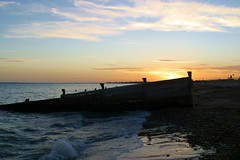 Sunset (***annie***) Tags: sunset beach sea groyne shore seascape sky coast island hayling