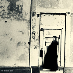 Apparition (Sanhodo) Tags: ghost woman ft point sanfrancisco doorways toned scanned transparency agfachrome