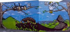 st peters (Greg Rohan) Tags: m5 westconnex graffitiart graffiti graff photography urbanphotography streetphotography spraypaintart spraycanart aerosolart urbanart urbanwalls urban paintedstreetart streetart edithstreet stpeters artwork artist art d7200 2016 arte