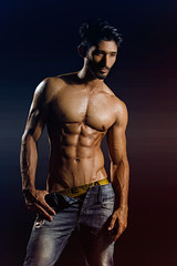 Saad LB#11 (Kazi_Kamrul_Abid) Tags: man male model body bodybuilder sixpacks fitness studio light
