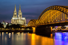 Cologne (Matt Parry Photo) Tags: cologne photokina dom hohenzollern bridge rhine river longexposure nightlights nightphotography bluehour travel citybreak cityscape nightscape mattparry canon5dmk3 canon1635f4l iconic appicoftheweek