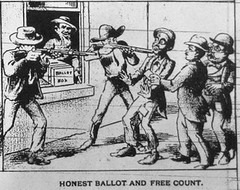 Voting in Louisiana 1892 (Infrogmation) Tags: history louisiana 1890s 1892 editorialcartoons themascot