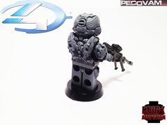 Spartan Warrior-Rear (pecovam) Tags: brick lego 4 halo warrior custom affliction spartan pecovam