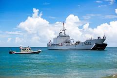Beach Landing (ModernDayGilligan) Tags: french navy grenada fieldtrip warship palmiste frenchnavy dumontdurville visitingship grenadacoastguard palmistegrenada