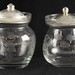 161. (2) Sterling Lid Jam Jars