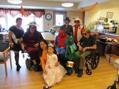 dress up at lloyd (Points West Living) Tags: halloween fun good evil enjoy lloydminster spidermen