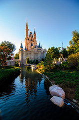 Sunset at Magic Kingdom (Lainara) Tags: sunset castle orlando nikon florida disney disneyworld cinderella waltdisneyworld castillo themepark magickingdom cinderellascastle lakebuenavista disneythemeparks disneyparks castillodisney d7000 castillodecenicienta nikond7000