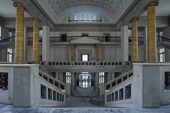 City Hall (Subversive Photography) Tags: abandoned architecture stairs germany grand urbanexploration pillars subversive derelict urbex grandeur danielbarter