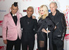 "Musicians Adrian Young (l-r)Tony KanalGwen Stefani and Tom Dumont of ""No Doubt"" The MTV EMA's 2012 held at Festhalle - arrivals Frankfurt, Germany"