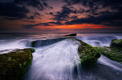 The Wave of Pantai Lima #2 [Explored] (eggysayoga) Tags: sunset sky bali cloud seascape motion beach rock stone indonesia landscape golden nikon lima wide wave tokina 09 lee hour nd ultra pantai graduated waterscape uwa wavebreaker gnd 1116mm d7000 filterhard