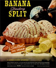 1959 Banana Split Sealtest Ice Cream (1950sUnlimited) Tags: food design desserts icecream 1950s packaging snacks 1960s dairy midcentury snackfood sealtest