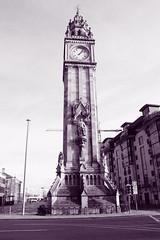The Albert Clock Tower (avalard) Tags: white black architecture landscape evening daylight cityscape belfast customhouse oddmanout eastbelfast albertclocktower