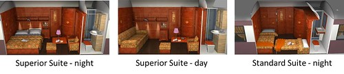 Al Andalus luxury train from Seville and Madrid - Diagrams of Suites