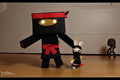 Day 173 - The ultimate Ninja-Duo (Explored) (Shaid || Khan) Tags: bunny japan canon project germany toy toys photography photo costume crazy amazon foto ninja manga picture pic figure carton 365 rabbits figurine bild bunnys digitalphoto lapin figur projekt hase figuren raving hasen yotsuba danbo kostm spielfigur 600d project365 rabbids revoltech ravingrabbits sackboy danboard