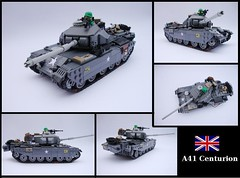 A41 Centurion (2) ([Maks]) Tags: world 2 team model war gun tank lego military main poland battle ii armor british minifig centurion a41 moc brickarms lugpol
