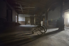 The Shadow people (andre govia.) Tags: light shadow urban never building abandoned film buildings photo shadows shot photos decay wheelchair ghost creepy explore stop urbanexploration trespass ghosts care exploration urbex decayedbuildings abandonedhospital exploreing andregovia exploreabandonedbuildings